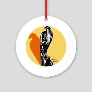 Maltese Falcon Ornament (Round)