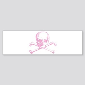 Pink Cross Bones Bumper Sticker