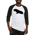 Gothic Black Bat Baseball Jersey