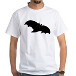 Gothic Black Bat White T-Shirt