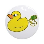 Farting Duck Ornament (Round)