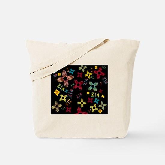 ZIA Collage Black Tote Bag