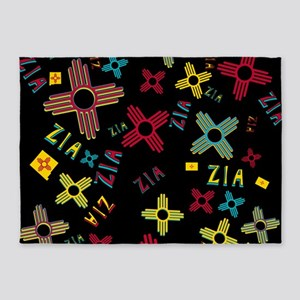 ZIA Collage Black 5'x7'Area Rug