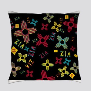 ZIA Collage Black Everyday Pillow