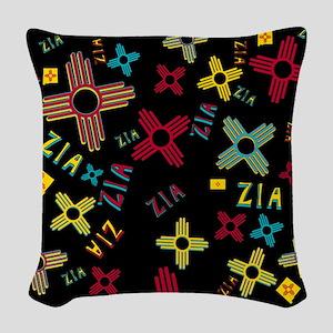 ZIA Collage Black Woven Throw Pillow