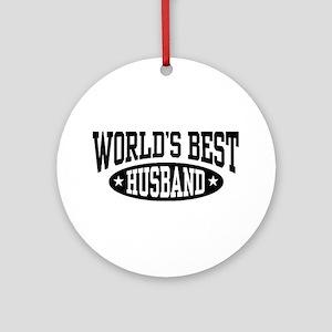 World's Best Husband Ornament (Round)