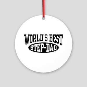 World's Best Step Dad Ornament (Round)