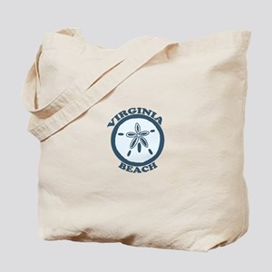 Virginia Beach VA - Sand Dollar Design Tote Bag
