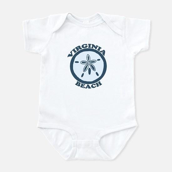 Virginia Beach VA - Sand Dollar Design Infant Body