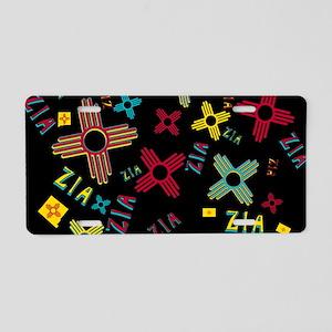 ZIA Collage Black Aluminum License Plate