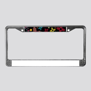 ZIA Collage Black License Plate Frame