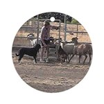 Herding Dog Art Ornament (Round)