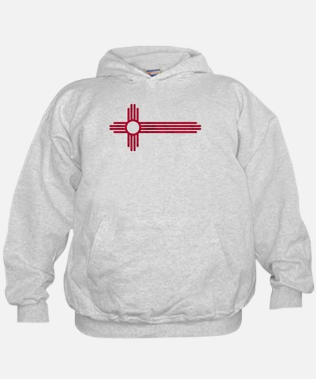 Red Stretched ZIA NM State Flag Sweatshirt