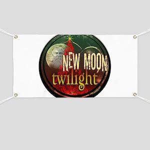 New Moon Santa Moon Banner
