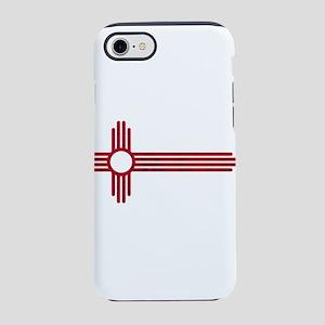 Red Stretched ZIA NM State Fla iPhone 7 Tough Case