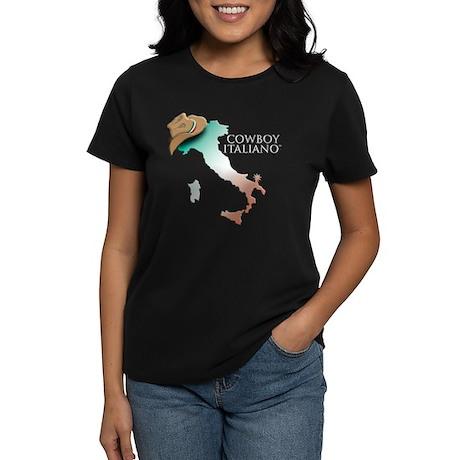 Cowboy Italiano Map Women's Dark T-Shirt