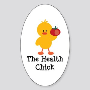 The Health Chick Oval Sticker