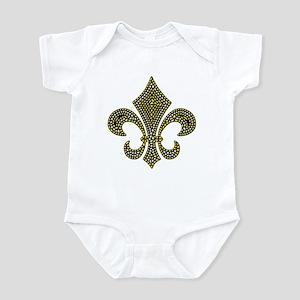 Fleur-de-lis Mosaic Gold Infant Bodysuit