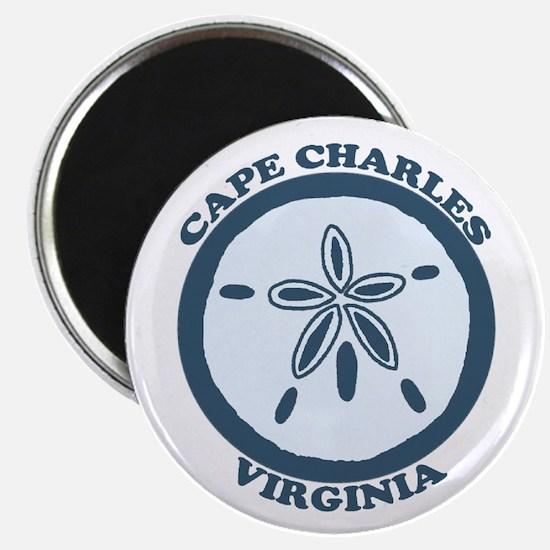 Cape Charles VA - Sand Dollar Design Magnet