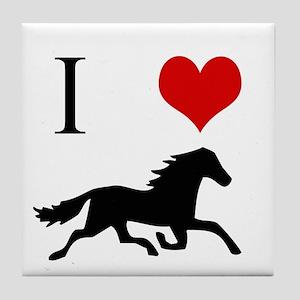 I Love Horses Tile Coaster
