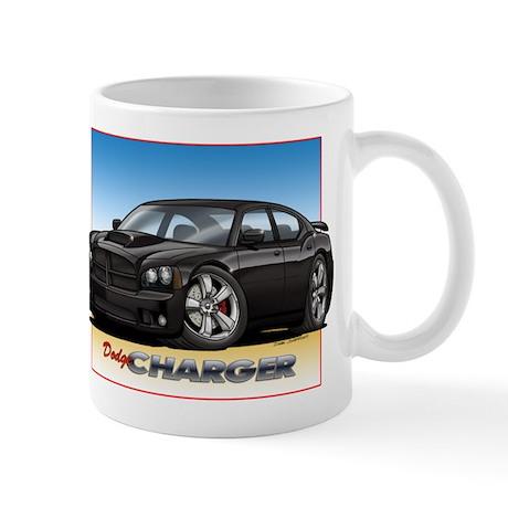 Black Dodge Charger Mug