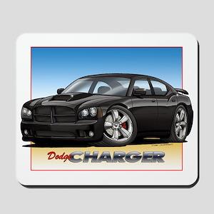 Black Dodge Charger Mousepad