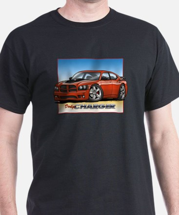 Orange Dodge Charger T-Shirt