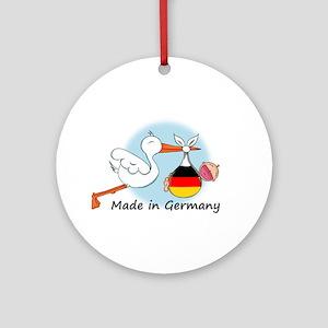 Stork Baby Germany Ornament (Round)