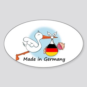 Stork Baby Germany Oval Sticker