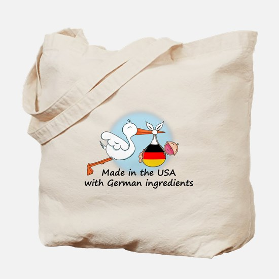 Stork Baby Germany USA Tote Bag