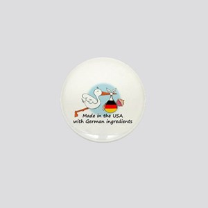 Stork Baby Germany USA Mini Button