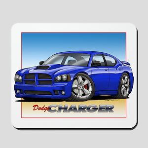 Blue Dodge Charger Mousepad