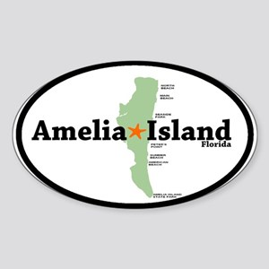 Amelia Island FL Oval Sticker