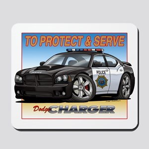 Police Dodge Charger Mousepad