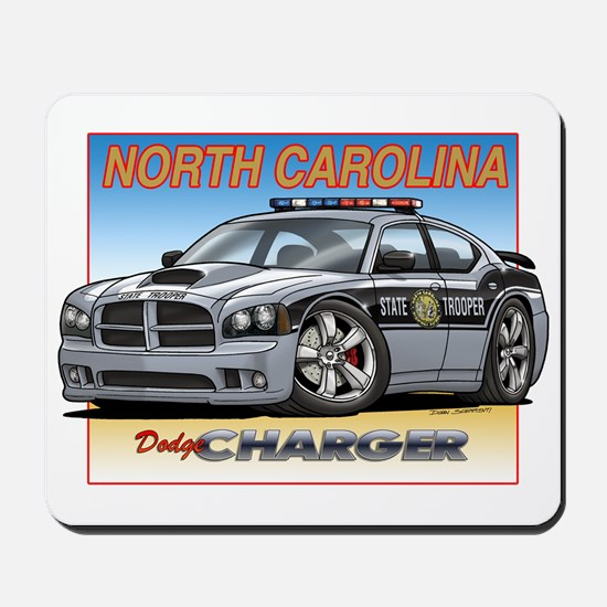 NC State Trooper Charger Mousepad