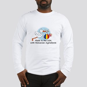 Stork Baby Romania USA Long Sleeve T-Shirt