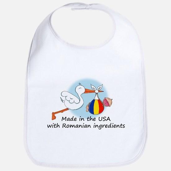Stork Baby Romania USA Bib