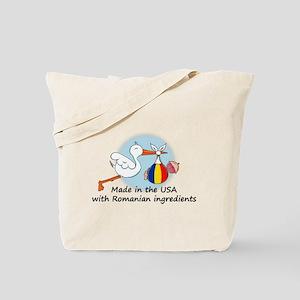Stork Baby Romania USA Tote Bag