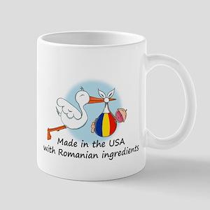Stork Baby Romania USA Mug