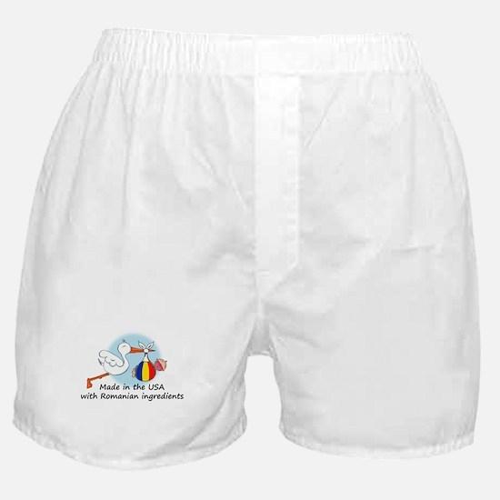 Stork Baby Romania USA Boxer Shorts
