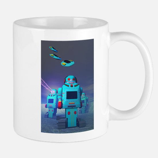 Toy Robos on the Attack Mug