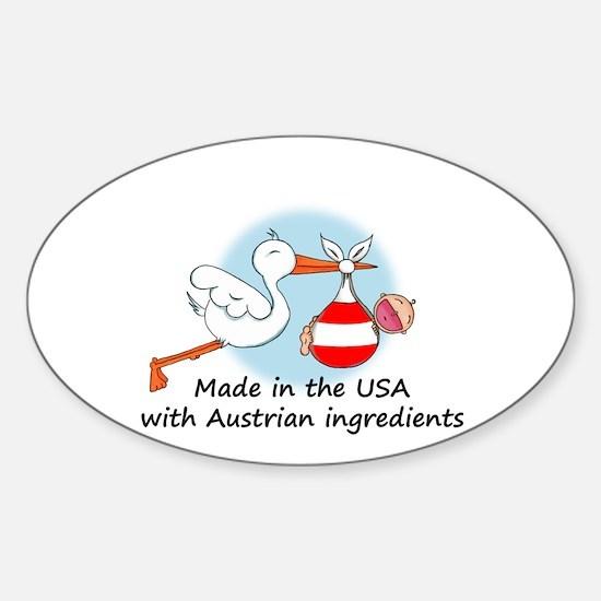 Stork Baby Austria USA Oval Decal