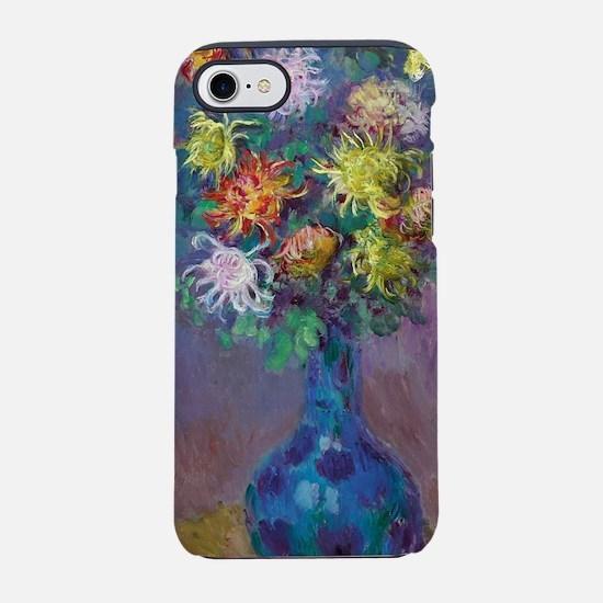 Vase of Chrysanthemums - Claud iPhone 7 Tough Case