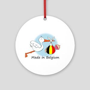 Stork Baby Belgium Ornament (Round)