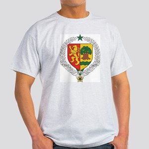 Senegal Coat Of Arms Ash Grey T-Shirt