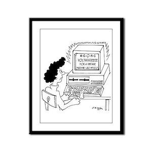Computer Cartoon 4369 Framed Panel Print