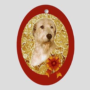 Irish Wolfhound Christmas Oval Ornament G/R