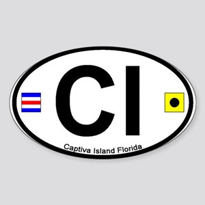 Captiva Island FL - Oval Design Oval Sticker