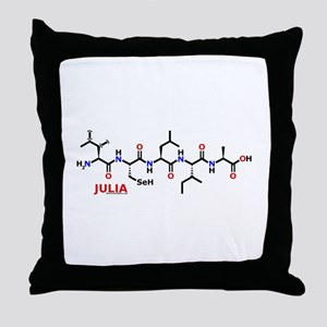 Julia molecularshirts.com Throw Pillow