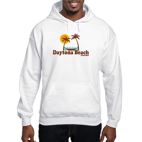 Daytona Beach FL - Sun and Palm Trees Design Hoode